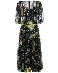 Dolce & Gabbana Multi Print Shift Dress