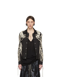 Rick Owens Black Mega Laced Worker Jacket