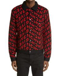 Givenchy Refracted Logo Jacquard Wool Sweater Jacket