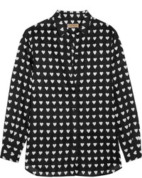 Burberry Printed Linen Shirt Black