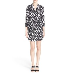 Kate Spade New York Mini Faye Floral Print Silk Shirtdress