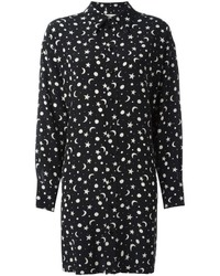 Saint laurent printed shirt dress medium 646511