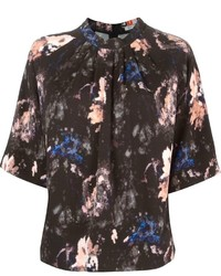 MSGM Printed Short Sleeve Blouse