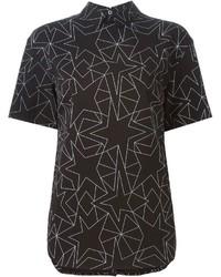 Neil Barrett Geometric Print Blouse