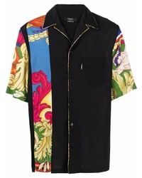 Versace Barocco Print Camp Collar Shirt