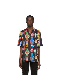 Versace Black And Multicolor Seven Vessels Shirt