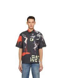 MSGM Black Dario Argento Edition Cat Shirt