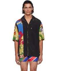 Versace Black Medusa Renaissance Short Sleeve Shirt