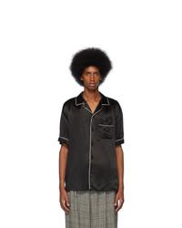 Gucci Black Print Back Bowling Shirt