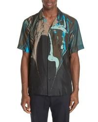 Dries Van Noten Carlton Print Silk Camp Shirt