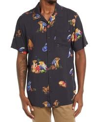 Vans Classic Fit Floral Short Sleeve Button Up Camp Shirt