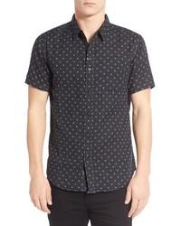 Doubles print short sleeve woven shirt medium 601564