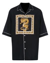 Versace Dragon Print Shirt