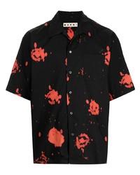 Marni Painterly Print Cotton Shirt