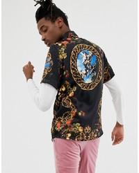 ASOS DESIGN Regular Fit Baroque Shirt
