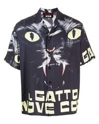 MSGM X Dario Argento Il Gatto A Nove Code Short Sleeve Shirt