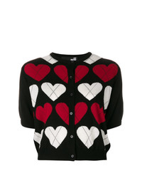 Love Moschino Short Sleeve Heart Cardigan