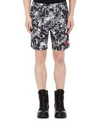 Hood by Air Abstract Print Shorts Black