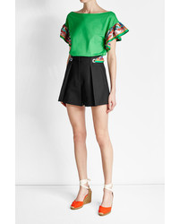 Emilio Pucci Cotton Shorts With Printed Scarf