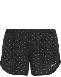 Nike Dry Tempo Mesh Trimmed Printed Shell Shorts Black