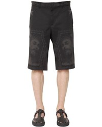 Givenchy Jesus Laser Printed Denim Bermuda Shorts