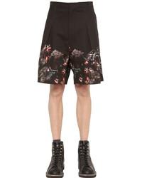 Givenchy Monkeys Cotton Gabardine Bermuda Shorts