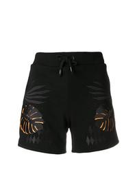 Versace Jeans Leaf Print Drawstring Shorts
