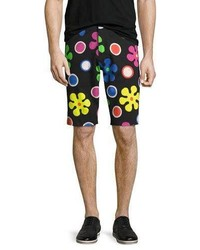 Moschino Psychedelic Flower Print Shorts Black