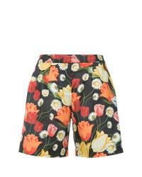 Mother of Pearl Tulip Print Bermuda Shorts