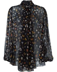 Alexander McQueen Obsession Print Blouse