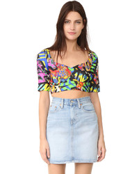 Moschino Print Crop Top