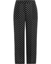 Theory Printed Wide Leg Silk Pants