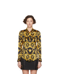 Versace Black V Baroque Shirt