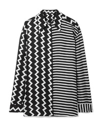 Stella McCartney Oversized Printed Silk Moire Shirt