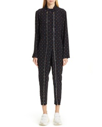Stella McCartney Circle Print Silk Jumpsuit