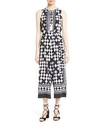 Kate Spade New York Lantern Print Silk Culotte Jumpsuit