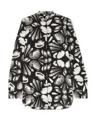 Alexander McQueen Printed Silk Crepe Blouse