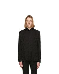 Saint Laurent Black Silk Parasol Shirt