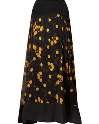 3.1 Phillip Lim Ed Printed Silk De Chine Maxi Skirt