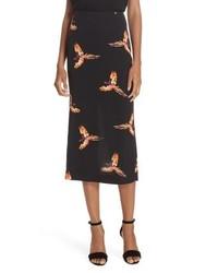 DVF Diane Von Tailored Midi Pencil Skirt
