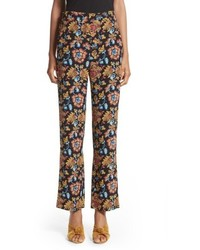 Etro Floral Print Silk Pants