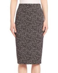 Michl kors collection printed pencil skirt medium 753928