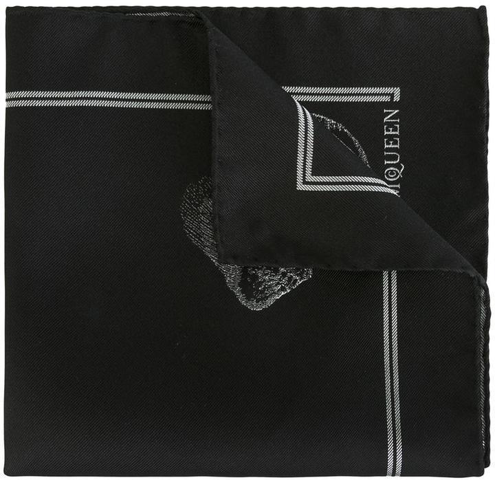 9221353f02fdf Alexander McQueen Skull Print Pocket Square, $110 | farfetch.com ...
