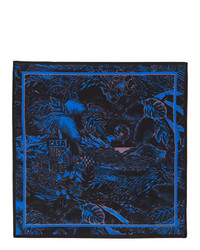 Paul Smith Black And Blue Chile Pocket Square