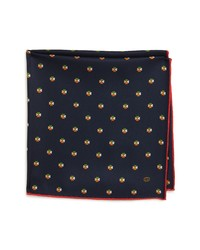 Gucci Double G Hearts Silk Pocket Square