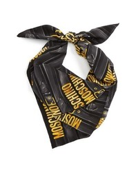 Moschino Belt Print Silk Scarf