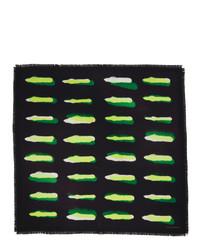 Dries Van Noten Black And Green Len Lye Edition Flick Scarf