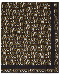 Kenzo Black Monogram Square Scarf