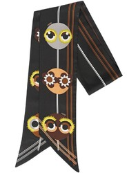 Fendi Monster Printed Silk Twill Scarf