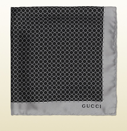 eeae9c516738 Gucci Printed Silk Pocket Square   Where to buy   how to wear